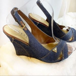Guess Denim Wedges size 9